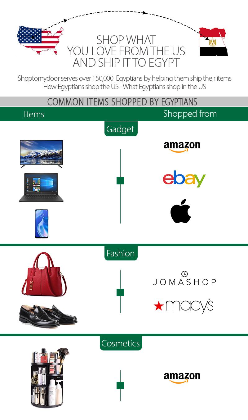 Shoptomydoor ships to Egypt
